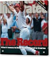 St. Louis Cardinals Mark Mcgwire... Sports Illustrated Cover Acrylic Print