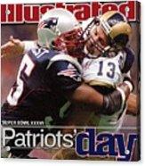 St. Louis Rams Qb Kurt Warner, Super Bowl Xxxvi Sports Illustrated Cover Acrylic Print