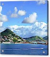 St. Maarten Panorama Acrylic Print