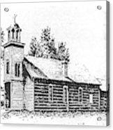 St. Mary's Mission, Stevensville, Montana Acrylic Print