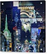 St. Sava Temple In Belgrade Acrylic Print