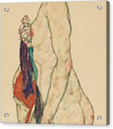 Standing Nude With A Patterned Robe, 1917  Acrylic Print