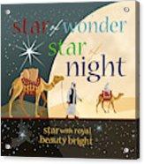 Star Of Wonder Acrylic Print