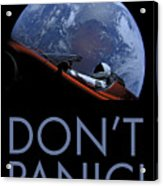 Starman Don't Panic In Orbit Acrylic Print