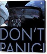 Starman Don't You Panic Now Acrylic Print