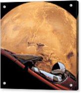 Starman In Orbit Around Mars Acrylic Print
