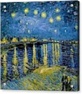 Starry Night - Digital Remastered Edition Acrylic Print