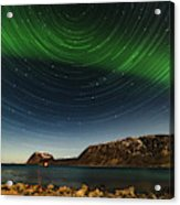 Startrail Over Northern Lights Acrylic Print