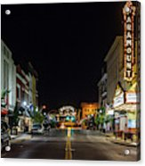 State Street With The Newly Lit Bristol Sign Acrylic Print