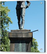 statue In memory of Gallant Soldier Lt. Col. George Elliott Bens Acrylic Print