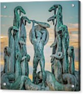 Statue Of Heracles The Hero Acrylic Print