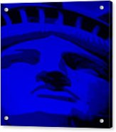 Statue Of Liberty In Blue Acrylic Print