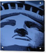 Statue Of Liberty In Cyan Acrylic Print