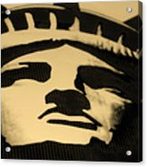 Statue Of Liberty In Dark Sepia Acrylic Print