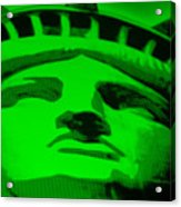 Statue Of Liberty In Green Acrylic Print