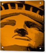 Statue Of Liberty In Orange Acrylic Print