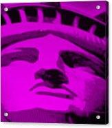Statue Of Liberty In Purple Acrylic Print