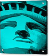 Statue Of Liberty In Turquois Acrylic Print