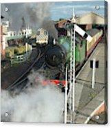 Steam Train Leaving Station Acrylic Print
