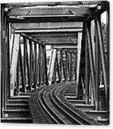 Steel Girder Railway Bridge Acrylic Print
