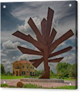 Steel Palm - Peace River Botanical And Sculpture Gardens Acrylic Print