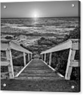 Steps To The Sun  Black And White Acrylic Print