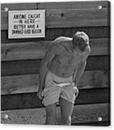 Steve Mcqueen Undresses Outdoors Acrylic Print