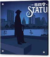Stevie Ray Vaughan Memorial Statue  Acrylic Print