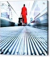 Stewardess Airport Travel Acrylic Print