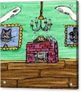 Stick Cats #1 Acrylic Print