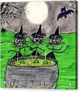 Stick Cats #2 Acrylic Print