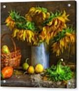 Still Life With Sunflowers Acrylic Print