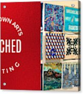 Stitched Quilting Exhibit Acrylic Print