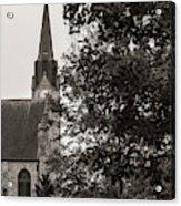 Stone Chapel - Black And White Acrylic Print