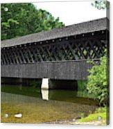Stone Mountain Covered Bridge Panorama View Acrylic Print