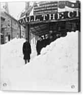 Store Hidden By Heavy Snowfall Acrylic Print