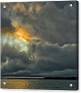 Storm Approaches At Sunset Acrylic Print