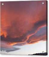 Storm At Sunset, North America Acrylic Print