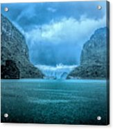 Storm Clouds Invade Ha Long Bay Blue Rain  Acrylic Print