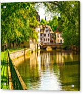 Strasbourg, Water Canal In Petite Acrylic Print