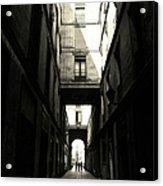Street In Barcelona Acrylic Print