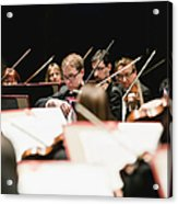 String Section In Orchestra Acrylic Print