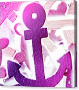 Stuck On Sailing Symbols Acrylic Print
