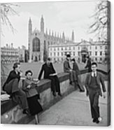 Students At Cambridge Acrylic Print