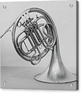 Studio Shot Of French Horn Acrylic Print