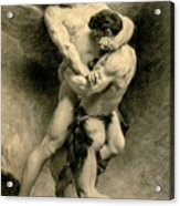 Study For Jacob Wrestling With The Angel, 1876 Acrylic Print