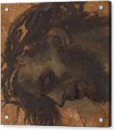 Study For The Head Of Christ In A Crucifixion Acrylic Print