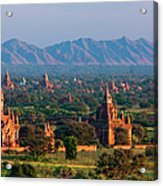 Stupas On The Plains Of Bagan, Myanmar Acrylic Print