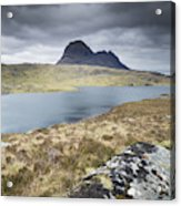 Suilven On A Stormy Day Acrylic Print
