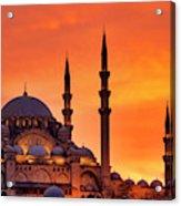 Suleymaniye Mosque At Sunset Acrylic Print